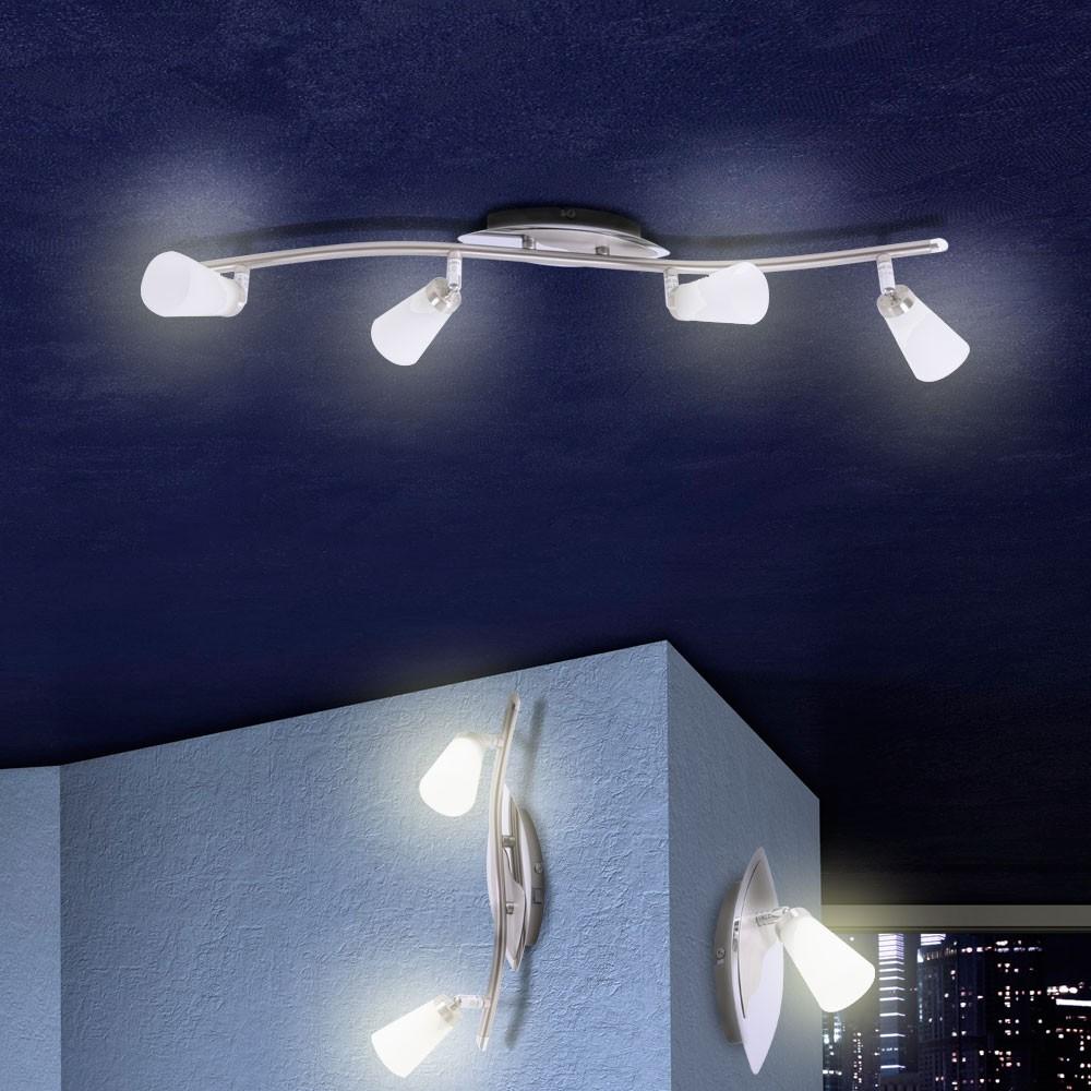 Decken wand beleuchtung inkl philips leuchtmittel flur - Focos para salon ...
