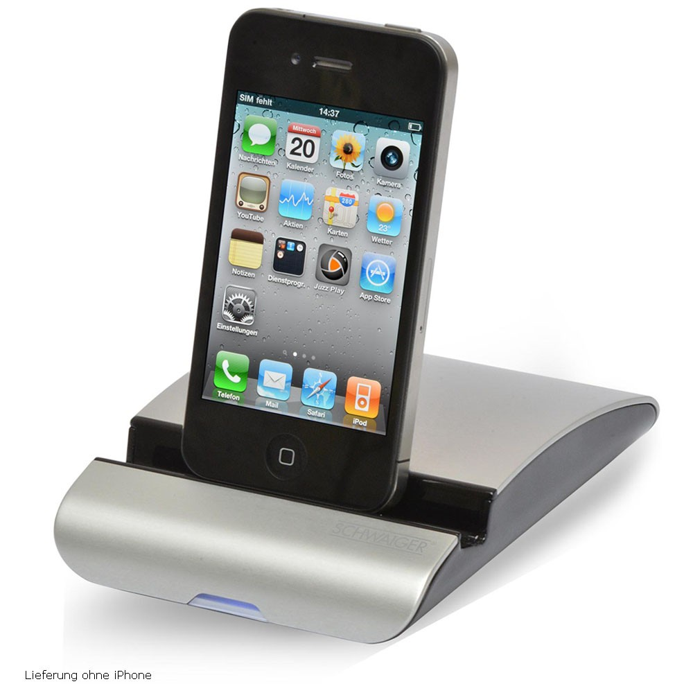 ipod iphone ipad media docking station ladestation. Black Bedroom Furniture Sets. Home Design Ideas