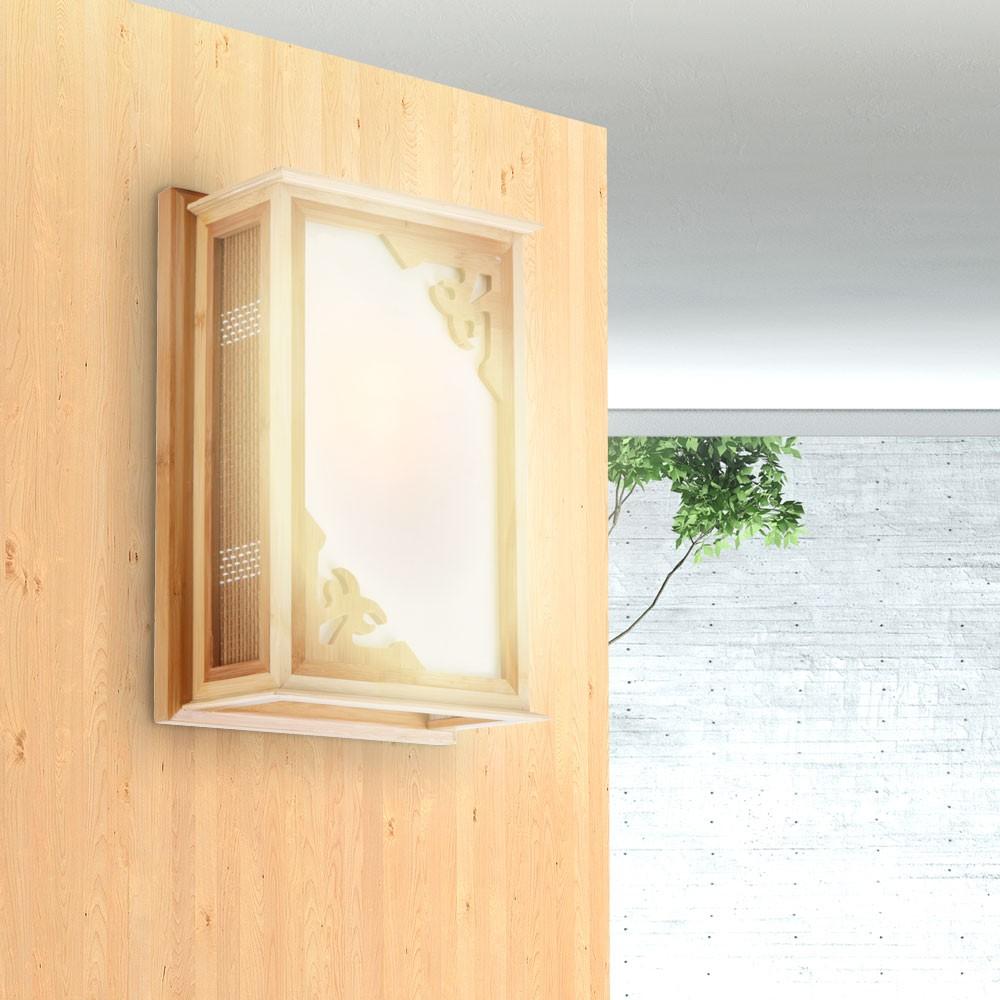 klassiche flur wandleuchte holz hell wandlampe antik look lampe licht neu ebay. Black Bedroom Furniture Sets. Home Design Ideas