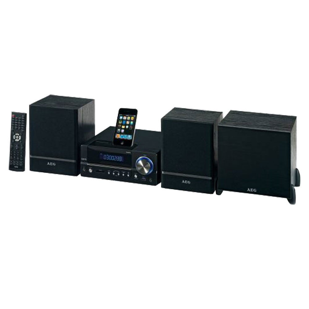 musikanlage stereoanlage dvd cd mp3 player iphone ipod dock aux usb aeg dvd 4626 ebay. Black Bedroom Furniture Sets. Home Design Ideas