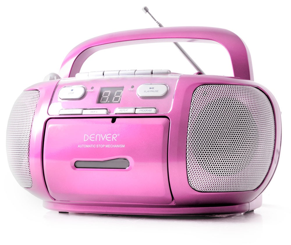 musikanlage m dchen kinder stereoanlage boombox cd player kassetten radio rosa ebay. Black Bedroom Furniture Sets. Home Design Ideas