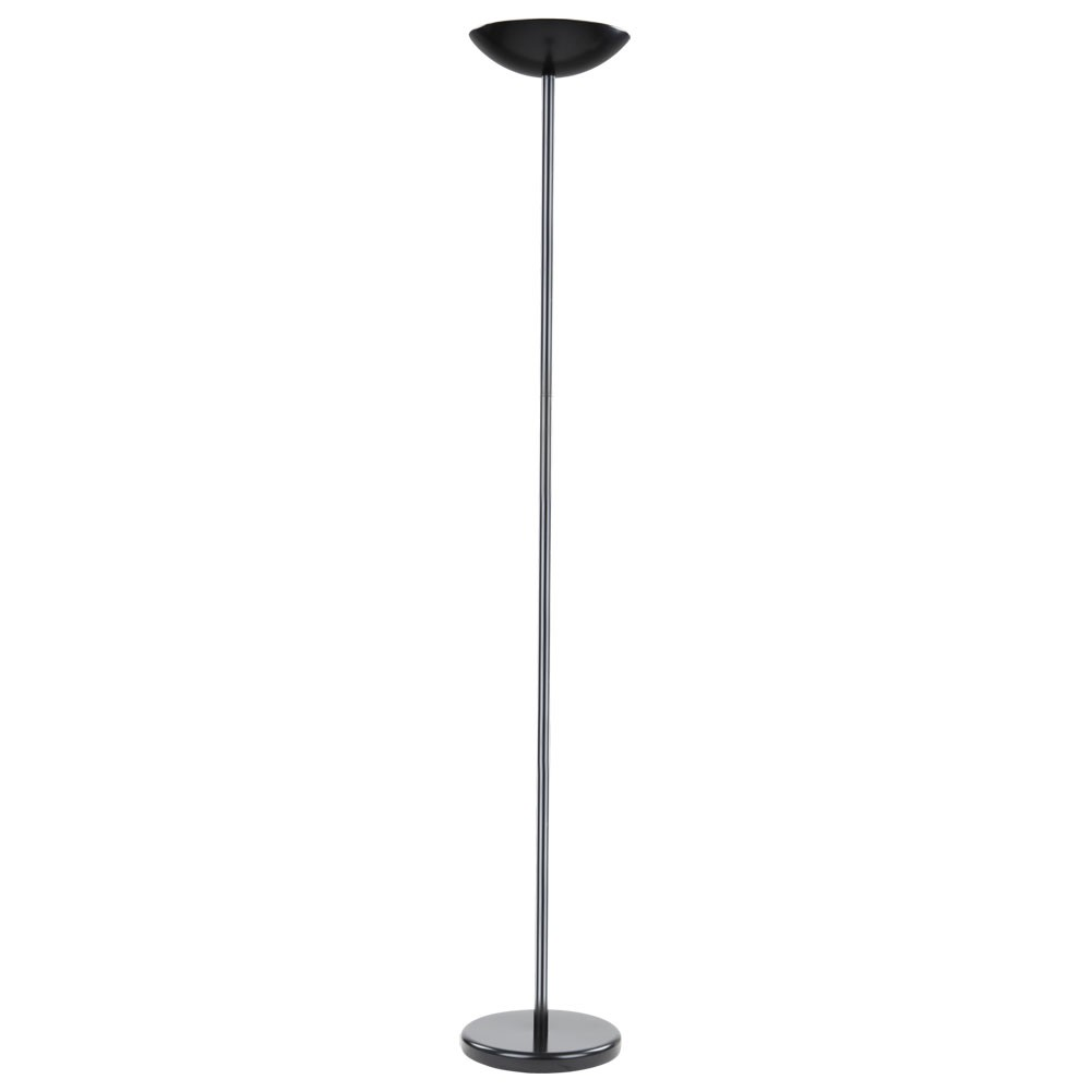 deckenfluter stehleuchte stehlampe standleuchte schwarz inkl led leuchtmittel ebay. Black Bedroom Furniture Sets. Home Design Ideas
