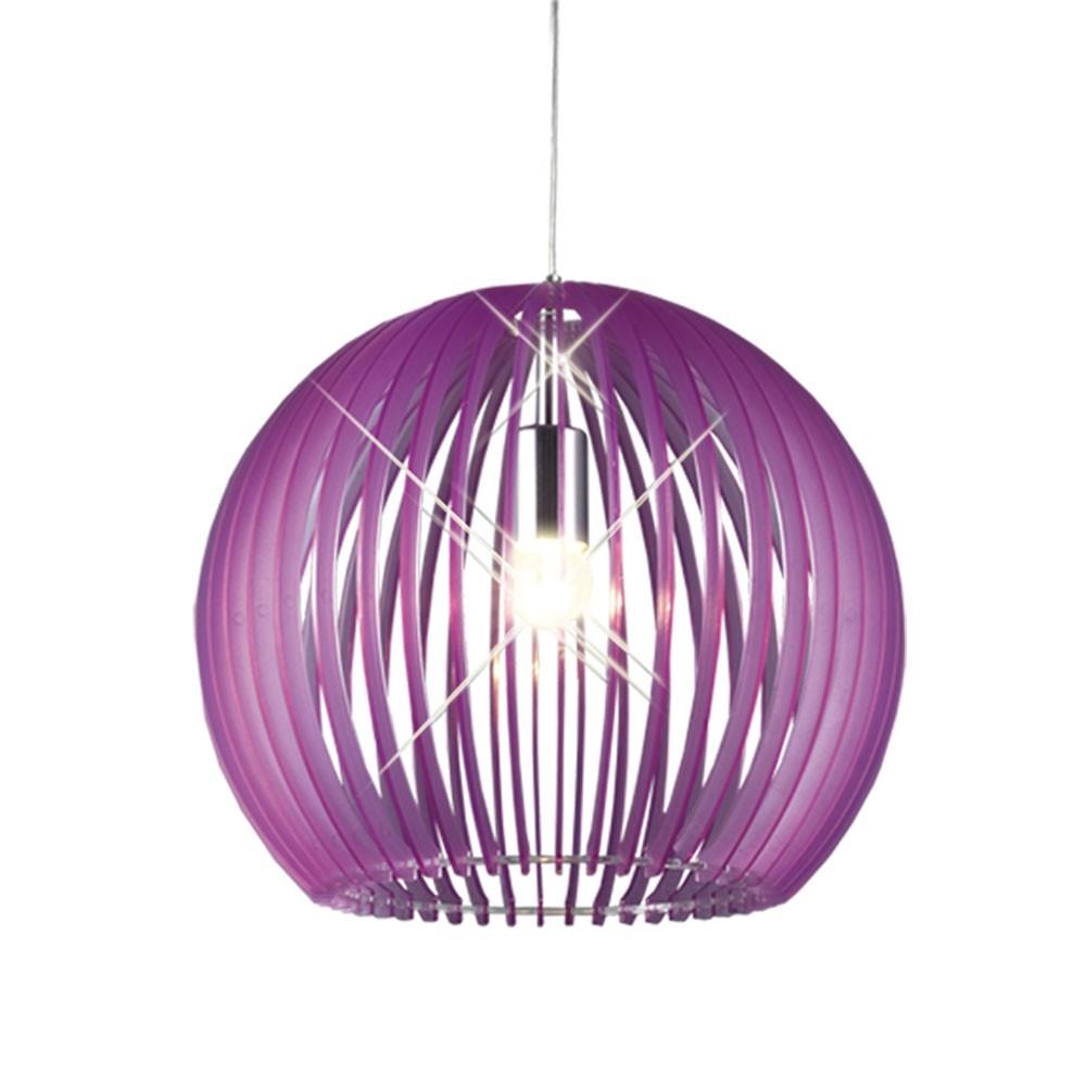 pendelleuchte k chen beleuchtung licht flur lampe kugel k che leuchte lila chrom ebay. Black Bedroom Furniture Sets. Home Design Ideas