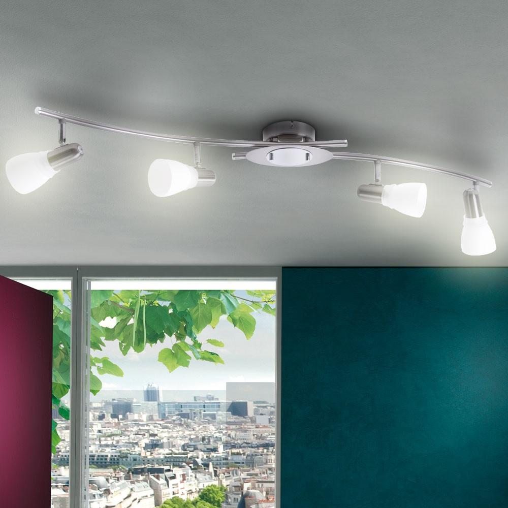 deckenleuchte deckenlampe beleuchtung deckenstrahler spotleiste wohnzimmer lampe ebay. Black Bedroom Furniture Sets. Home Design Ideas