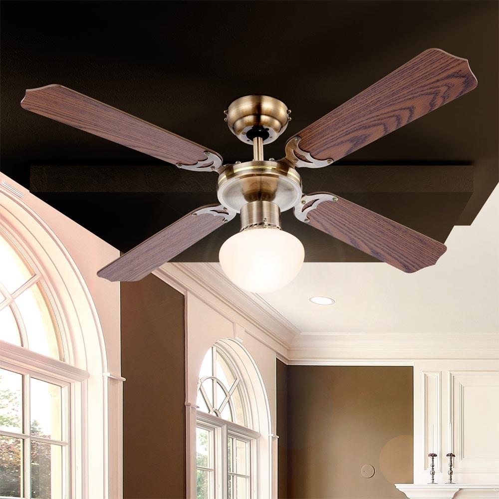 beleuchtung ventilator deckenventilator leuchte deckenleuchte lampe licht decken ebay. Black Bedroom Furniture Sets. Home Design Ideas