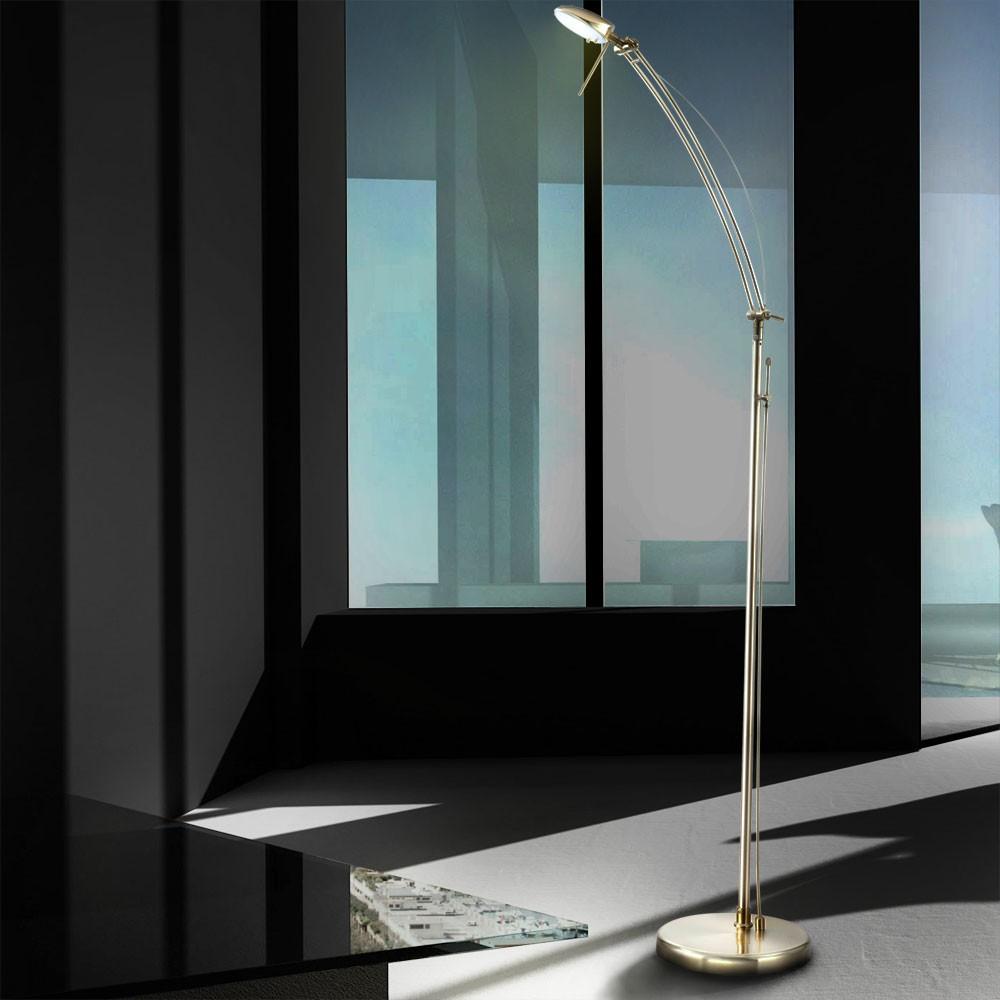 leselampe standleuchte stehlampe stehleuchte lampe leuchte strahler dimmer licht eur 49 90. Black Bedroom Furniture Sets. Home Design Ideas