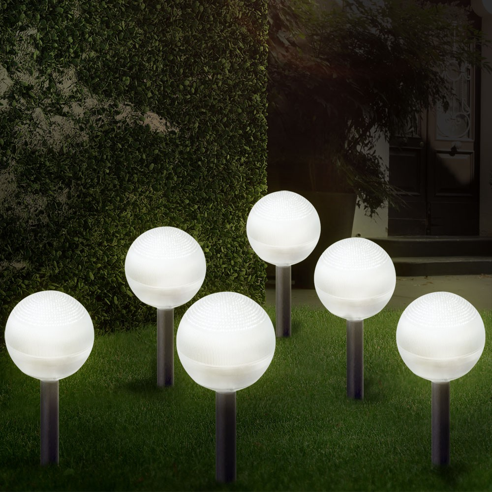 6er set gartenleuchte solar gartenlampe solarleuchte dekoration led beleuchtung ebay. Black Bedroom Furniture Sets. Home Design Ideas