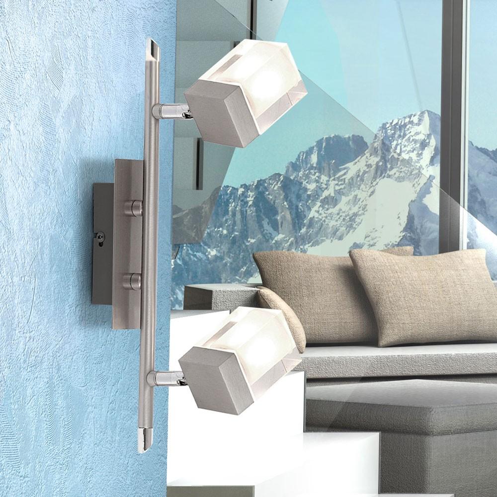 design decken w rfel lampe schwenbar wand glas flur beleuchtung drehbar auswahl ebay. Black Bedroom Furniture Sets. Home Design Ideas