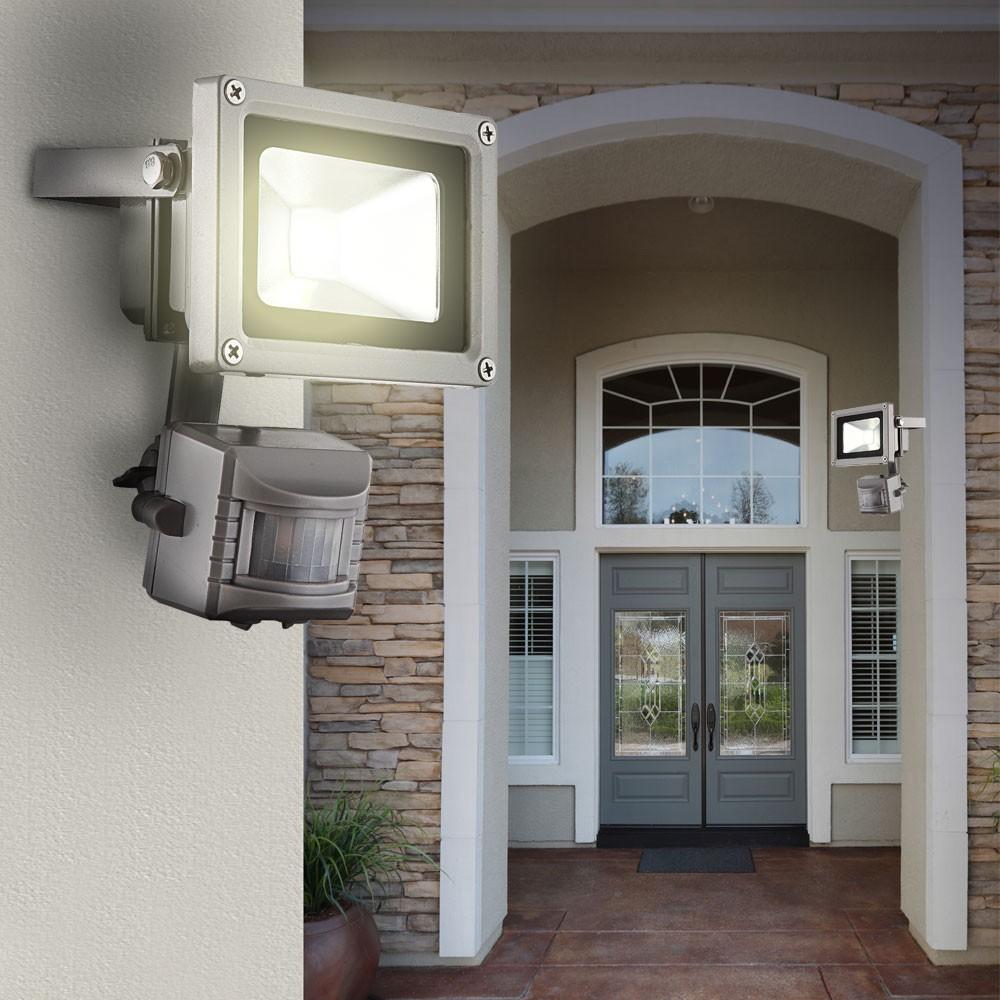 Aussen-Scheinwerfer-Fluter-Garten-LED-Strahler-Leuchte-Aussenlampe-Bewegungsmelder