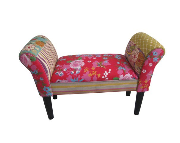 patchwork sitzbank couch sessel sofa armlehnstuhl kinder hocker dekohocker bunt ebay. Black Bedroom Furniture Sets. Home Design Ideas