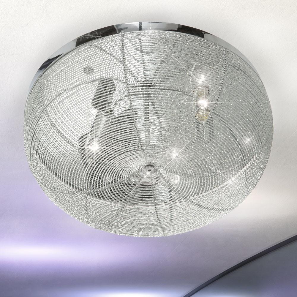 9w smd led alu chrom wohnzimmer küchen decken lampe flur design