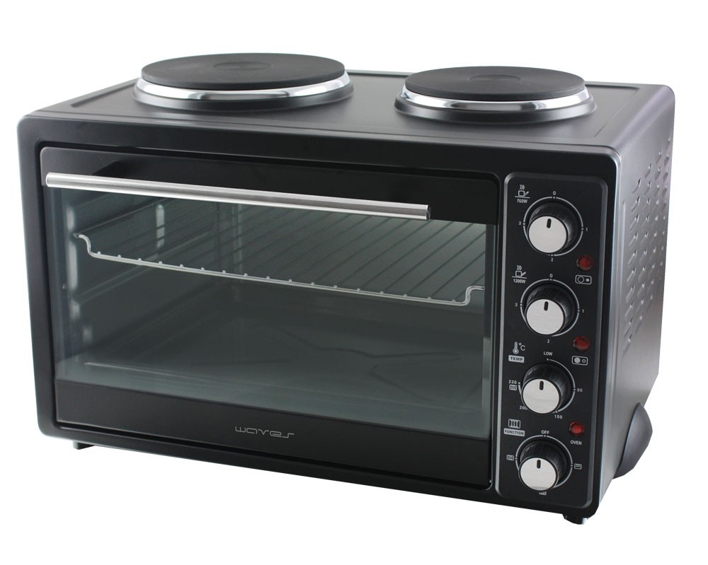 single doppel kochplatte pizza mini backofen miniofen 3300 watt minibackofen 30l ebay. Black Bedroom Furniture Sets. Home Design Ideas