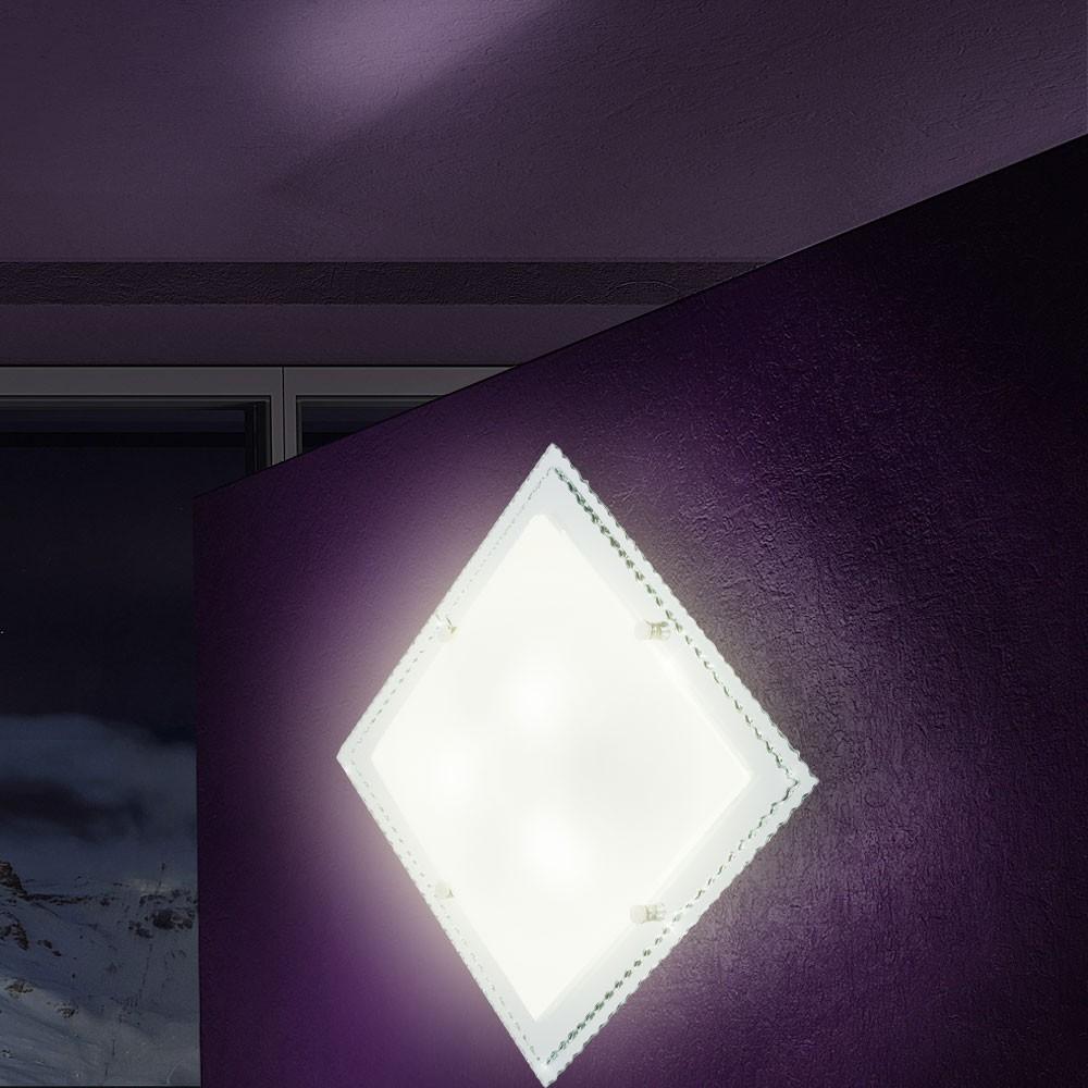 Deckenleuchte deckenlampe wohnzimmerlampe beleuchtung for Deckenlampe eckig