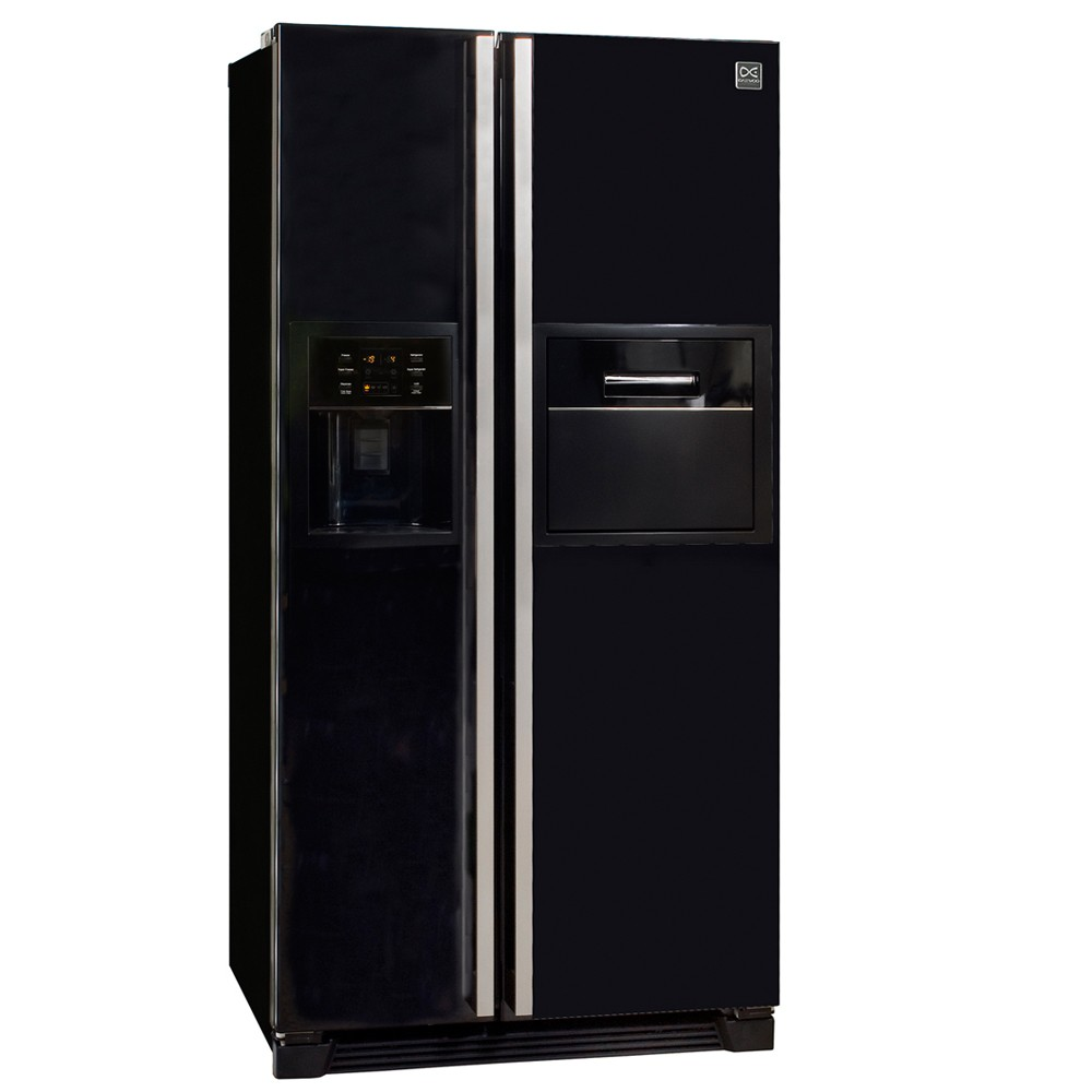 side by side k hlschrank retro retro fridge side view. Black Bedroom Furniture Sets. Home Design Ideas
