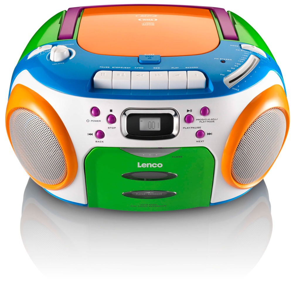 Wandfarbe Kinderzimmer Test : Cd Player Bunt Radio Kassette Boombox Kinder  Stereoanlage Lenco