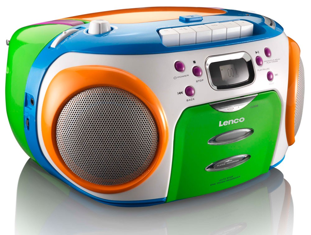 cd player bunt radio kassette boombox kinder stereoanlage lenco