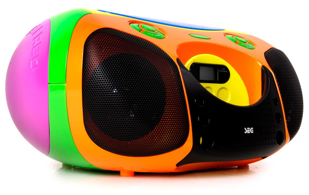 kinder stereo boombox bunt stereoanlage cd mp3 player. Black Bedroom Furniture Sets. Home Design Ideas