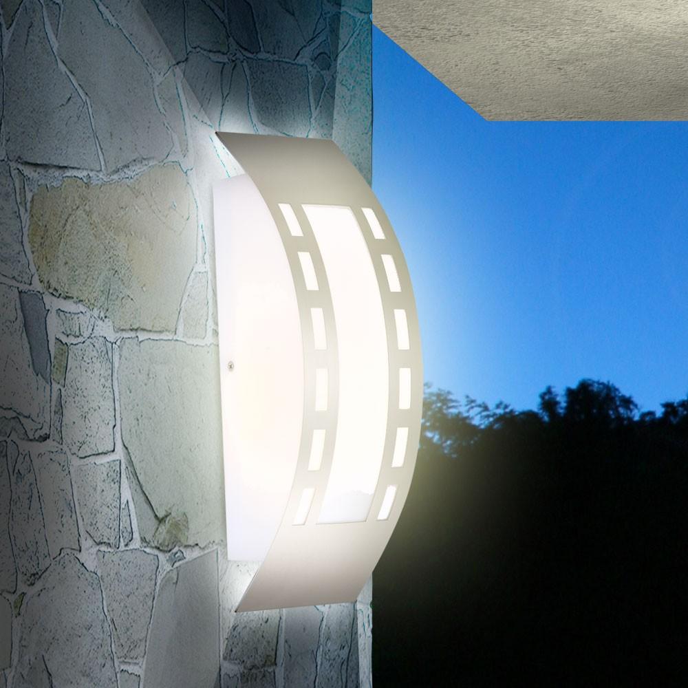 Applique luminaire mural led ext rieur jardin lumi re ip44 for Luminaire exterieur plastique