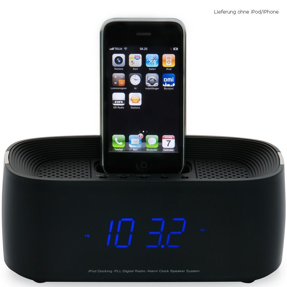 station d 39 accueil pour ipods bo tier en verre noir heure siebenbach. Black Bedroom Furniture Sets. Home Design Ideas