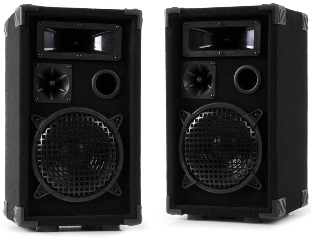 600 watt paar 3 wege party dj boxen pa lautsprecher. Black Bedroom Furniture Sets. Home Design Ideas