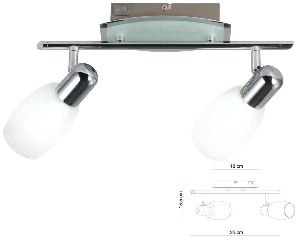 led deckenleuchte wandleuchte strahler beleuchtung lampe licht esszimmer neu ebay. Black Bedroom Furniture Sets. Home Design Ideas