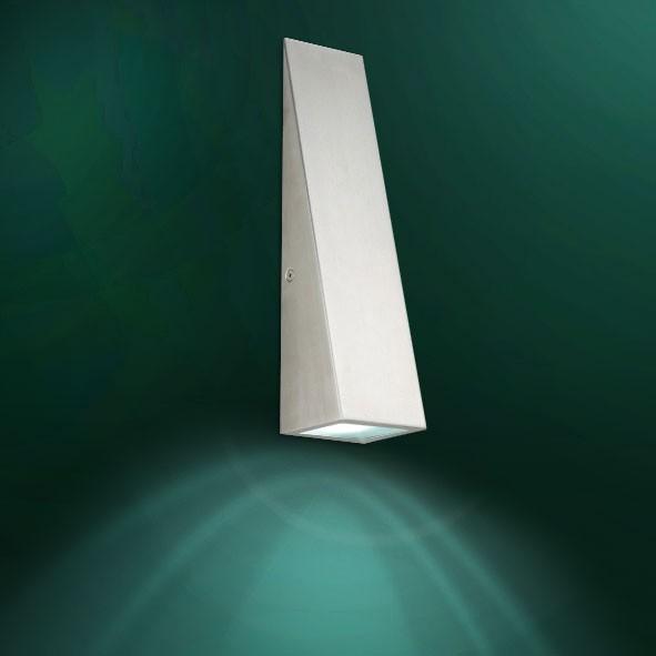 led 5 watt edelstahl lampe moderne wand leuchte innen aussen beleuchtung ip44. Black Bedroom Furniture Sets. Home Design Ideas