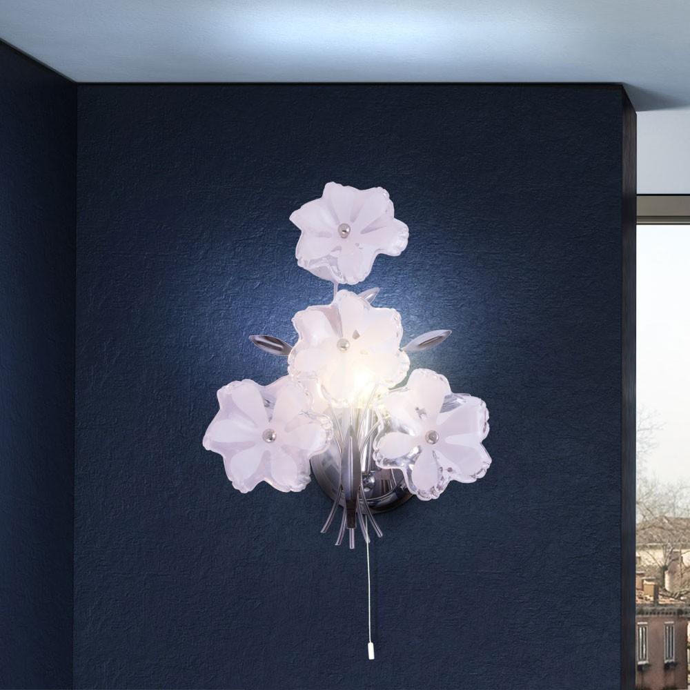 wand lampe beleuchtung licht flur blumen extravagant wohnzimmer elegant wohnung ebay. Black Bedroom Furniture Sets. Home Design Ideas