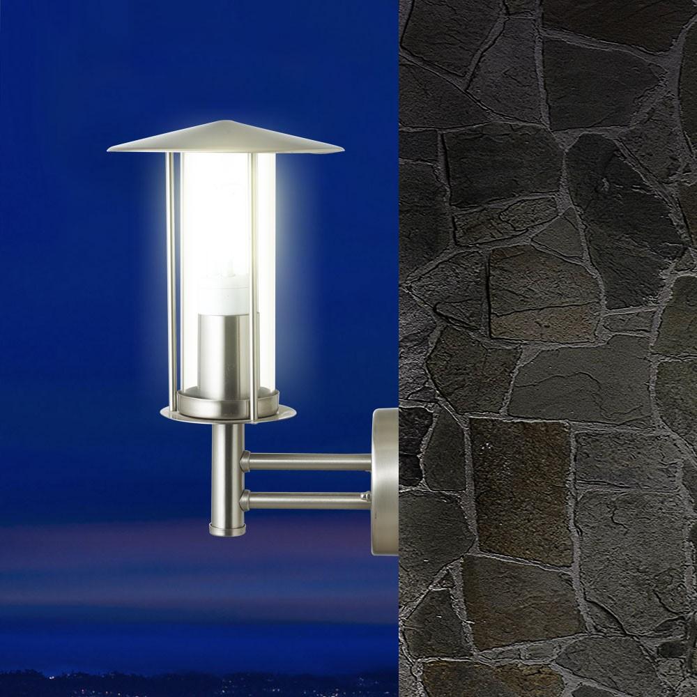 robuste au enlampe wandleuchte edelstahl design laterne einfahrt beleuchtung neu ebay. Black Bedroom Furniture Sets. Home Design Ideas