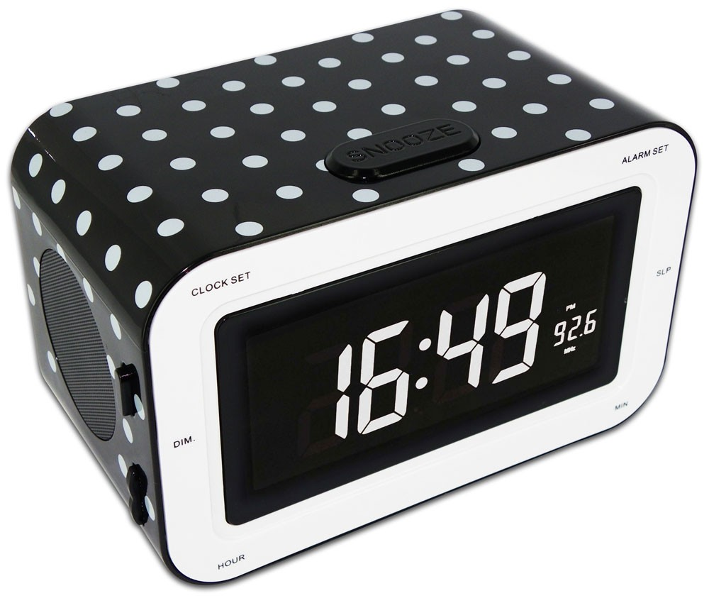 radiowecker uhr kinder ukw mw radio lcd display dimmbar. Black Bedroom Furniture Sets. Home Design Ideas