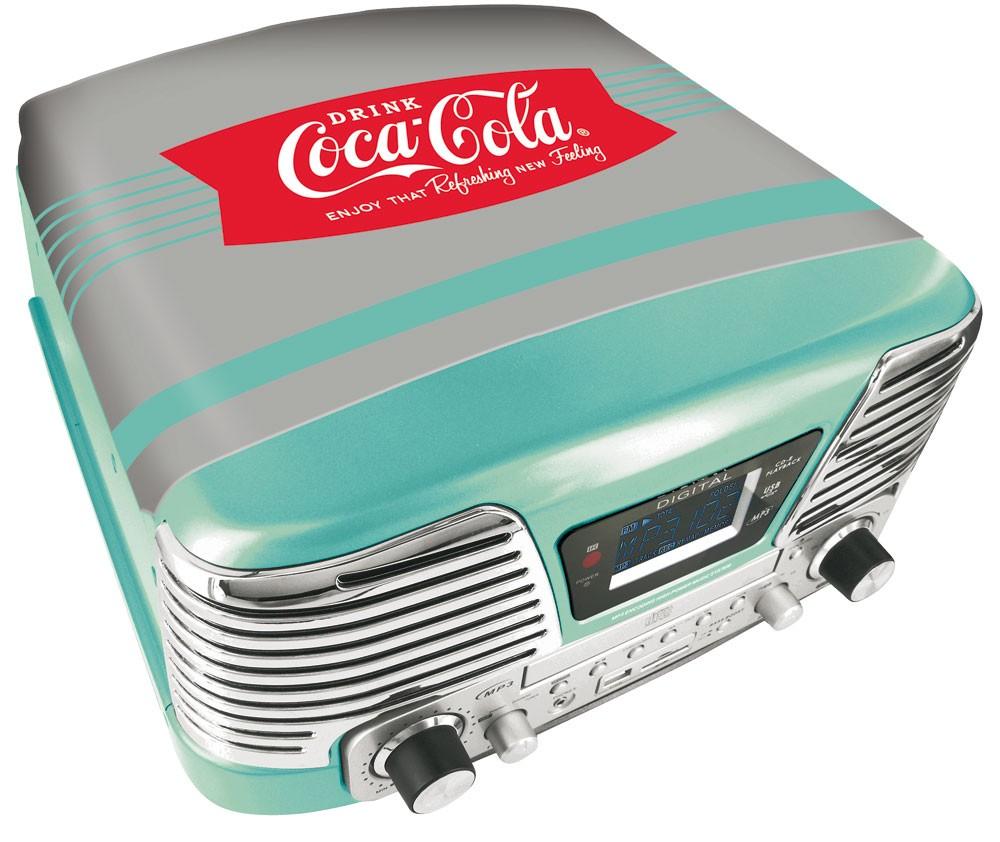 mp3 player coca cola design cd player plattenspieler ukw radio schallplatte top ebay. Black Bedroom Furniture Sets. Home Design Ideas
