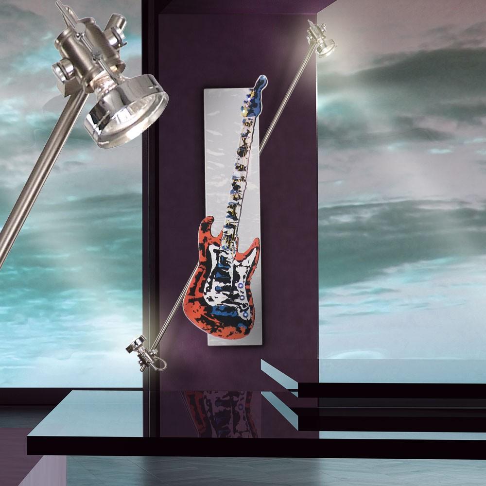 Designer led wandlampe rockstar leuchte motiv e gitarre for Led jugendzimmer