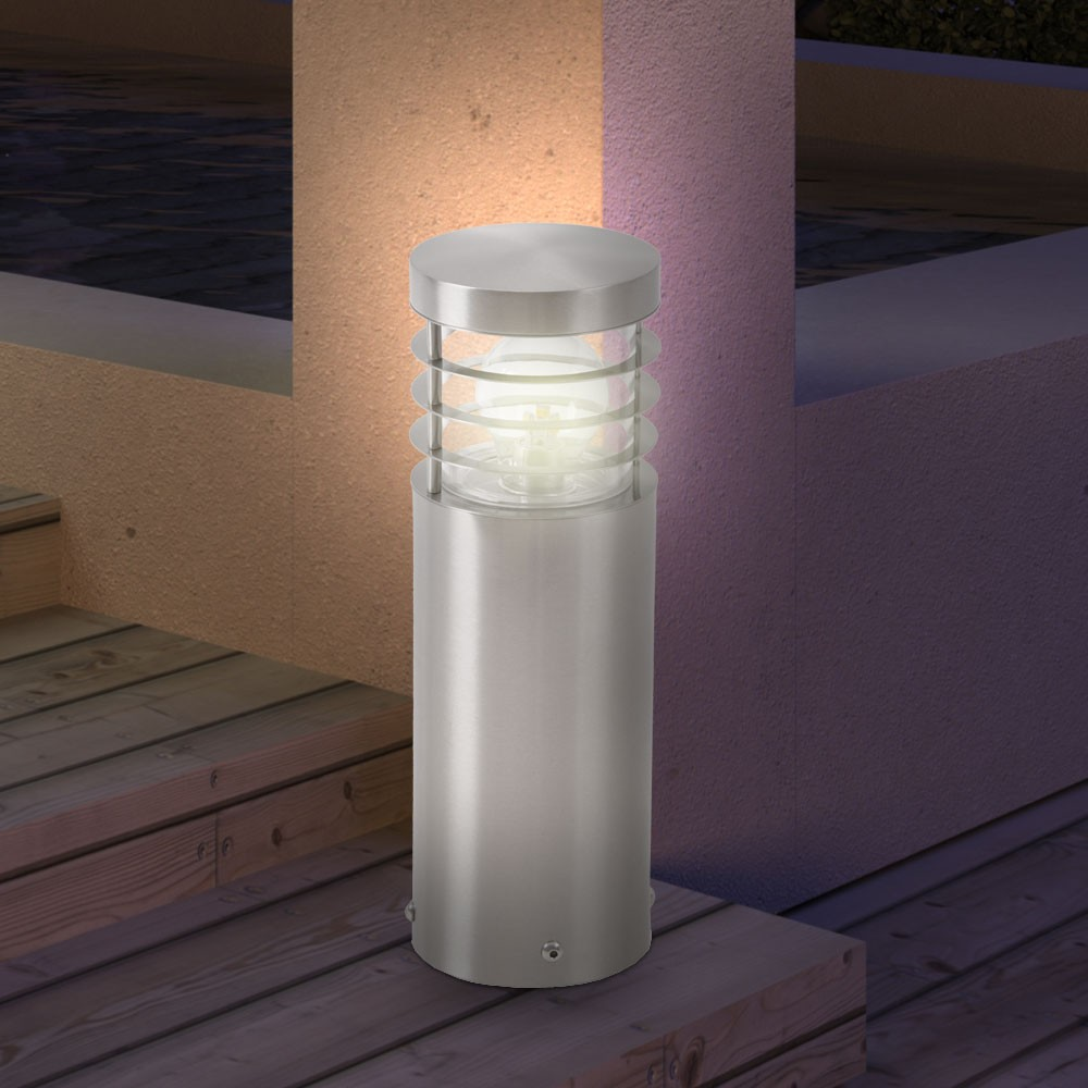 aussenlampe einfahrt beleuchtung laterne schutzart ip44 edelstahl design leuchte ebay. Black Bedroom Furniture Sets. Home Design Ideas