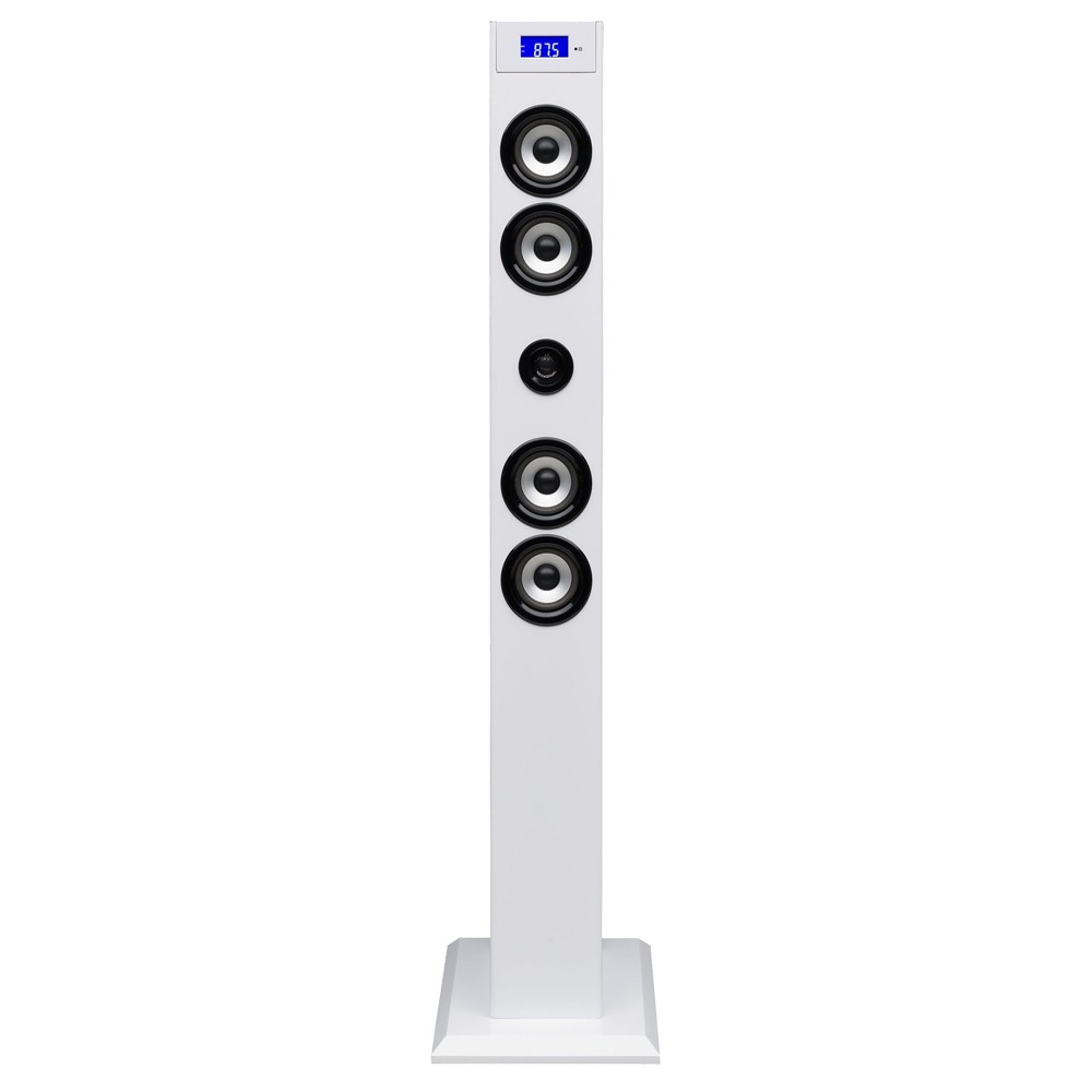 ipod iphone docking station tum lautsprecher sound tower usb sd radio bluetooth ebay. Black Bedroom Furniture Sets. Home Design Ideas