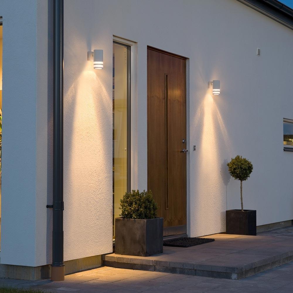 au enlampe ip44 wandleuchte haust r beleuchtung robustes alu design au enlicht ebay. Black Bedroom Furniture Sets. Home Design Ideas