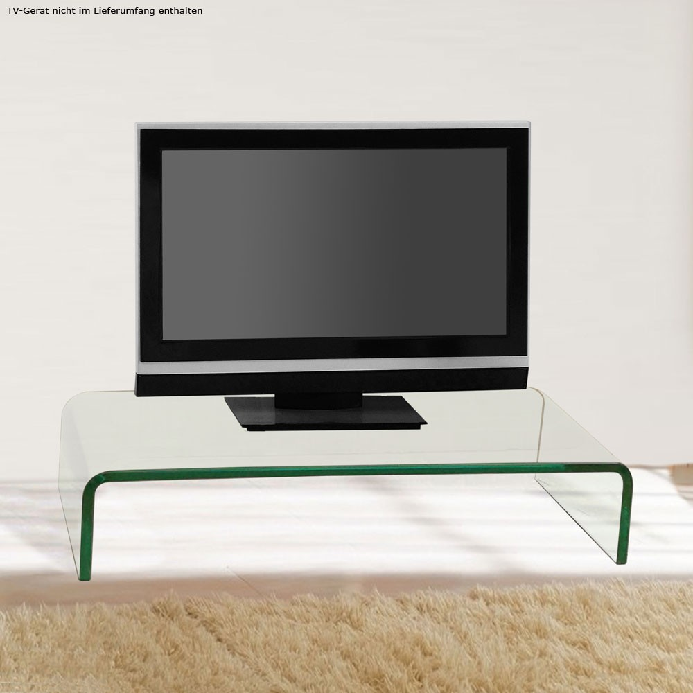 modern fernseh tisch monitor aufsatz tv ablage gebogen. Black Bedroom Furniture Sets. Home Design Ideas