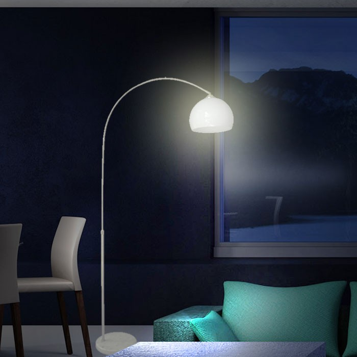 top beleuchtung bogenlampe smd led leuchte 5 w licht moderne zimmerlampe weiss ebay. Black Bedroom Furniture Sets. Home Design Ideas