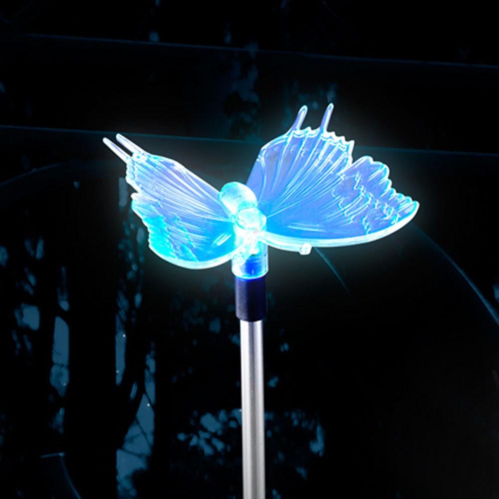 Luminaire Solaire Led Papillon Changeur Couleur Jardin