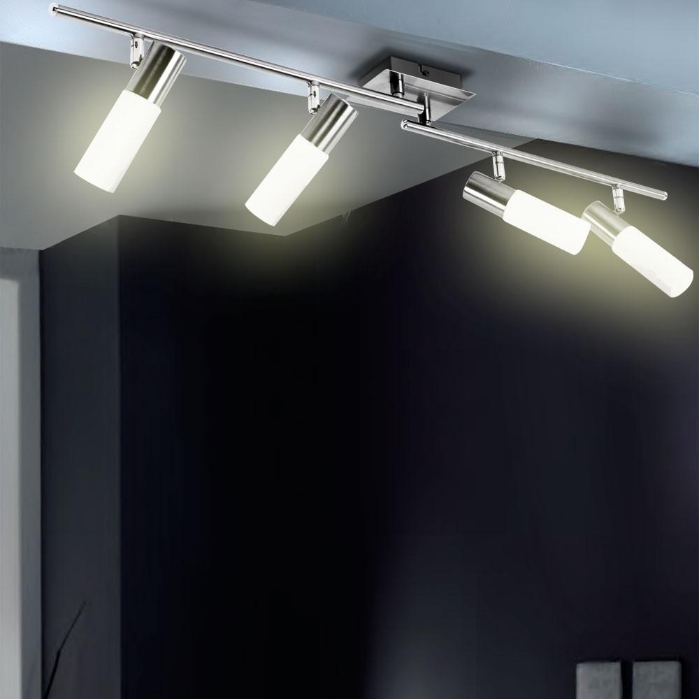 decken leuchte strahler 4x spots wohnzimmer bad lampe ip20 k che schwenkbar wofi ebay. Black Bedroom Furniture Sets. Home Design Ideas
