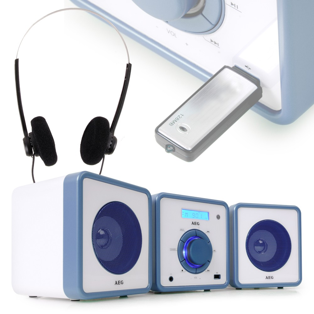 audio hi fi sound musikanlage blau usb mp3 stereoanlage kinder radio cd player ebay. Black Bedroom Furniture Sets. Home Design Ideas