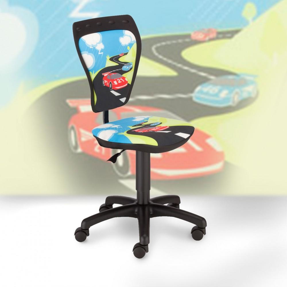 chaise pivotante chambre enfants voiture de course si ge bureau hauteur r glable. Black Bedroom Furniture Sets. Home Design Ideas