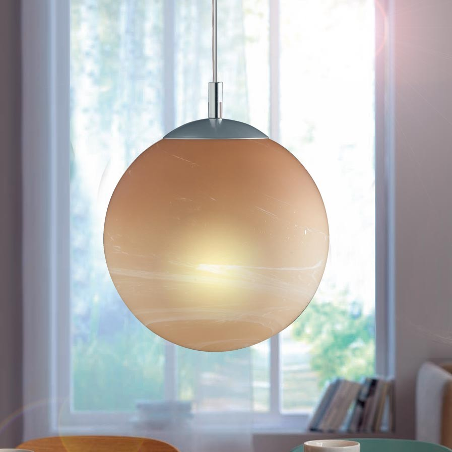 Wohnzimmer Decken Pendel Hänge Leuchten Lampen Kugel Alabaster ...