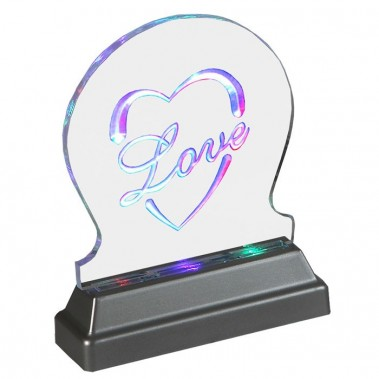 lampe led led leuchte led effektleuche multicolour farbwechsel acrylo led love lampen licht. Black Bedroom Furniture Sets. Home Design Ideas