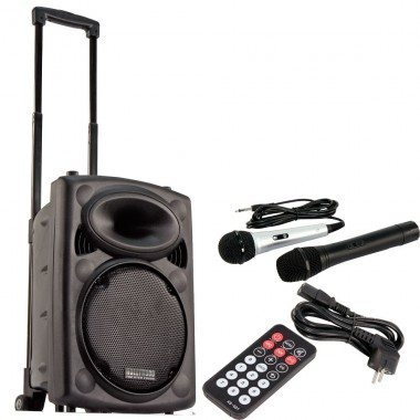 Mobile Beschallungsanlage Funkmikrofon DJ PA USB MP3 Hollywood Port-25/ Port10VHF-N – Bild 1