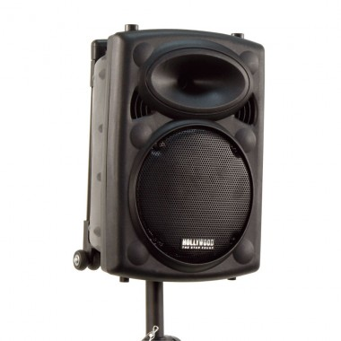 Mobile Beschallungsanlage Funkmikrofon DJ PA USB MP3 Hollywood Port-25/ Port10VHF-N – Bild 7