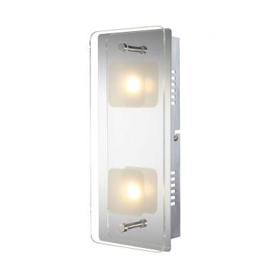 led wandlampe licht lampe glasplatte leuchte wandspot beleuchtung wandleuchte globo 49203 2. Black Bedroom Furniture Sets. Home Design Ideas