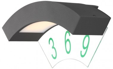 4 5 watt led au enlampe wand hausnummer beleuchtung t r. Black Bedroom Furniture Sets. Home Design Ideas