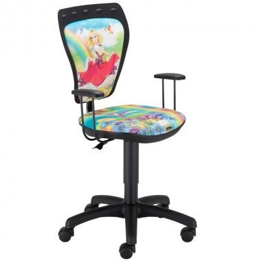 Schreibtischstuhl prinzessin kinderzimmer kinder m dchen drehstuhl mit armlehnen lampen m bel - Drehstuhl kinderzimmer ...