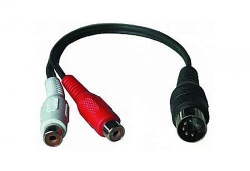 2x cinch kupplung auf diodenstecker verbinder 20 cm adapter 310000 audio technik audio hifi. Black Bedroom Furniture Sets. Home Design Ideas
