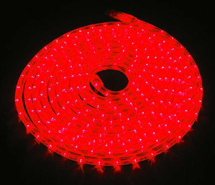 LED-Lichtschlauch McShine Rubberlight LED rot