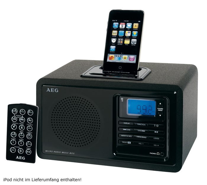 ipod music station radio mp3 player fm clock radio alarm clock aeg mr 4115 i ebay. Black Bedroom Furniture Sets. Home Design Ideas